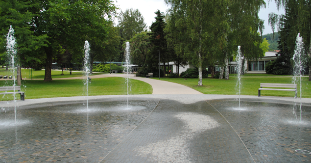Detail Fontänengarten