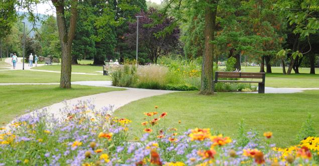 Fontänengarten: Wasserspiel