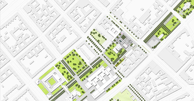 Lageplan städtebauliche Einbindung in die Umgebung